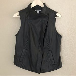 liz claiborne vintage leather vest